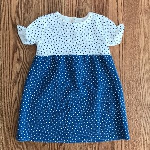 Zara Baby 2/3 Years Blue White Short Sleeve Dress